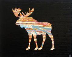 Everything Under the Sun (4) by Will Eskridge #animalart #originalart #minimalism #surrealism #contemporaryart #animal #moose #wildlife #northern