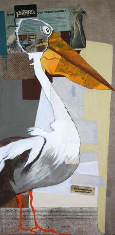@Lili Brillaud.com #Formica  technique mixte sur toile 60 X 120 cm  2010