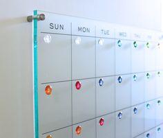 Dry Erase Calendar Large Wall Mount New