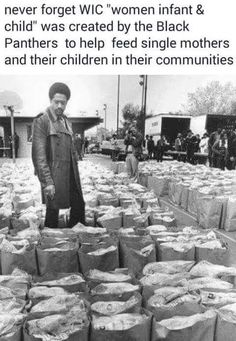 """tranqualizer: """" [photo: a black and white image of Black Panther Party leader Bobby Seale looking over bags of food to be donated to the local Black community] thanoblesavage: """" toartc: """". Black History Month, Black History Facts, Black Panther Party, Black Power, We Are The World, In This World, Sierra Leone, Bobby Seale, Cultura General"""