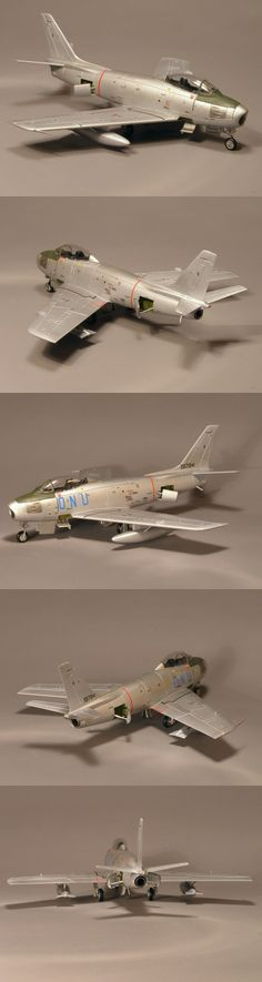 An F-86E ready to be delivered to Africa. Airfix 1/72 • http://www.network54.com/Forum/47751/message/1392171591/F-86E+in+Africa