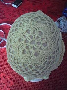 crochet floral hat