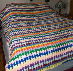 New MultiColor Afghan  Teardrop Stitch by Eagle414 on Etsy, $135.00