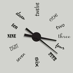Cool clock idea!  http://www.hgtv.ca/sarah101/episodes.aspx?sectionid=432&categoryid=4976351129275603882&postid=195858