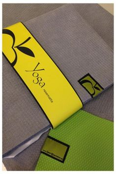 Yogamatta Tunn - grön Continental Wallet, Yoga