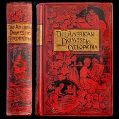 IsFive Books: Various Turn of the Century Decorative Cloth Publisher Bindings Part 2 Domestic American Cyclopedia