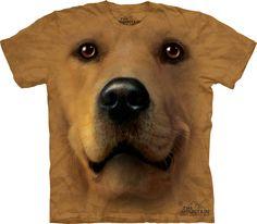Gold Tie Dye Tee,Golden Face 3D Dog,Unique Gift Sweet Golden Retriever T-Shirt
