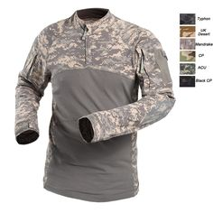 TACVASEN Men Tactical T-shirt Summer Army Camouflage Combat T Shirt Long Sleeve Military Airsoft Shirt Elastic Paintball Shirts Camouflage T Shirts, Army Camouflage, Camo Shirts, Tactical T Shirts, Tactical Clothing, Tactical Gear, Shirt Sleeves, Long Sleeve Shirts, Beauty Uniforms