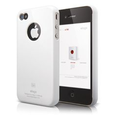 elago S4 Slim Fit Case for AT/Verizon iPhone 4 with Logo Protection Film - Snow White $9.98