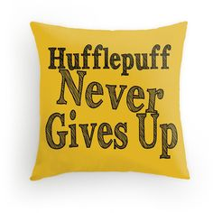 Hufflepuff Harry Potter Throw Pillow 16x16 ($23) ❤ liked on Polyvore featuring home, home decor, throw pillows, harry potter, yellow, yellow accent pillows, yellow toss pillows, yellow home decor and yellow throw pillows