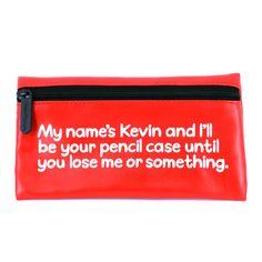 """Waldo Pancake """"My name is Kevin"""" Pencil Case"""