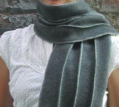 fleece scarf. Try wavy lines