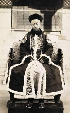 Puyi (7 February 1906 – 17 October 1967), of the Manchu Aisin Gioro clan, was the last Emperor of China, and the twelfth and final ruler of the Qing Dynasty. He ruled as the Xuantong Emperor from 1908 until his abdication on 12 February 1912. From 1 to 12 July 1917 he was briefly restored to the throne as a nominal emperor by the warlord Zhang Xun.