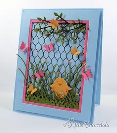 Spring Chick and Chicken Wire by kittie747 - Cards and Paper Crafts at Splitcoaststampers