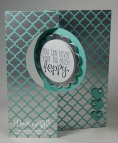 Yippe Skippee's Winter Frost Thinlits Circle card front - Dawn Griffith - Features the new Silver Foil paper & Winter Frost DSP.