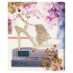 Gold Shoe Canvas Print, Oliver Gal