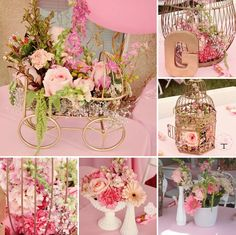 {Pink and Gold} Elegant Royal Gilded Bird Cage Baby Shower | Sisterly Love Bake Shop