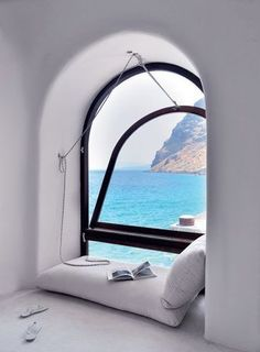 Window with a sea view