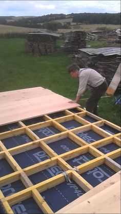 Anselm has now started on the base of the here he shows the construction and the materials used Shepherds Hut, No 6, Gypsy Wagon, Scotland Uk, Douglas Fir, Construction, School, Furniture, Cabin