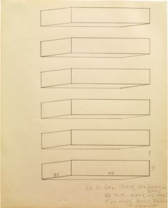 Donald Judd - Untitled, 1965 pencil on white paper 34,6 x 27,9 cm