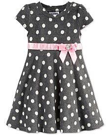 Blueberi Boulevard Little Girls' Dot Dress