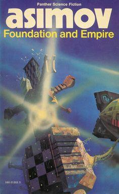 Isaac Asimov - Foundation and Empire. Chris Foss cover art.