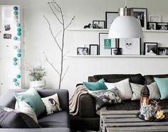 retro behang turquoise grijs - Google zoeken