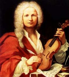 """Antonio Lucio Vivaldi March 1678 – 28 July nicknamed il Prete Rosso (""""The Red Priest"""") because of his red hair, was a Venetian Baroque composer, priest, and virtuoso violinist. His best known work is a series of violin concertos known as The Four Seasons. Baroque Composers, Classical Music Composers, Sebastian Bach, Vivaldi Winter, Vivaldi Spring, Antonio Lucio Vivaldi, Music Humor, Music Jokes, Teaching Music"""
