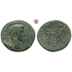 Römische Provinzialprägungen, Lydien, Sardeis, Augustus, Bronze, ss+: Augustus 27 v.-14 n.Chr. Bronze. Büste r. / Handschlag… #coins