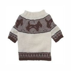 Brown Doggies and Pattern Dog Sweater by Klippo  See description for size >>> You can get additional details at the image link.