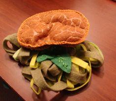Tallarines verdes con milanesa Milanesa, Pancakes, Felt, Cookies, Breakfast, Desserts, Handmade, Tagliatelle, Green