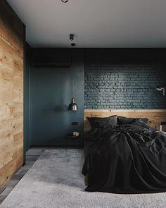 Interior Design Examples, Interior Design Inspiration, Dark Interiors, World Of Interiors, Modern Scandinavian Interior, Loft Design, House Design, Modern Architecture House, Home Bedroom
