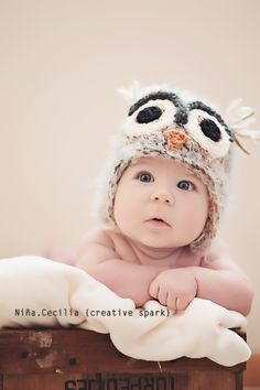 3 month session Seriously obsessed w owl beanies for babies