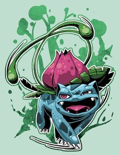 Ivysaur, pokemon starters by Wei Jing.