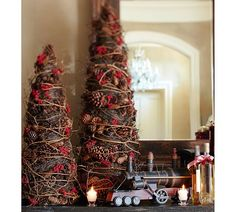 Pinecone & Berry Topiary | Pottery Barn