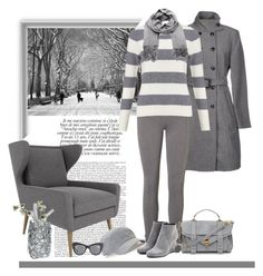 """""""Grey"""" by lizgq ❤ liked on Polyvore"""