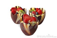 Chocolate fruit cup