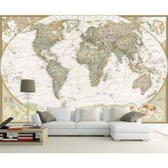 Evinizi veya ofisinizi dünya haritası duvar kağıdı modelleriyle dekore etmek için duvargiydir.com
