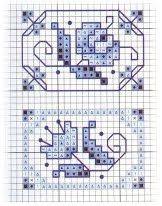 Miniatuur patroontje in blauw