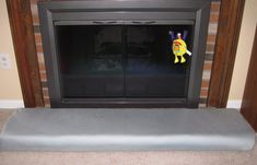 Make your own fireplace hearth cushion and save for - Ideas to cover fireplace opening ...