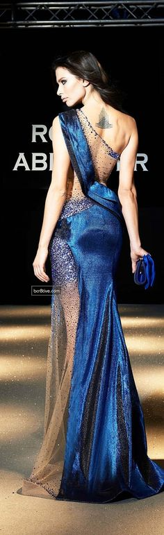 Evening gown, couture, evening dresses, formal and elegant Robert Abi Nader SS 2013 Blue Red Bridesmaid Gowns, Blue Fashion, Fashion Show, Dance Fashion, Royal Fashion, Style Fashion, Mode Glamour, Mode Inspiration, Fashion Inspiration