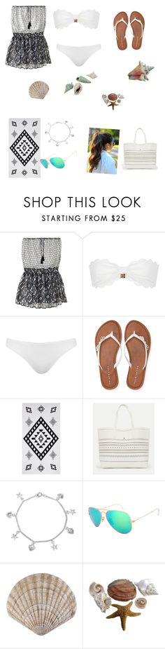 """""""Cover ups"""" by kaylehman1 ❤ liked on Polyvore featuring Victoria's Secret, Marysia Swim, Topshop, Aéropostale, County Of Milan, JustFab, Bling Jewelry and coverups"""