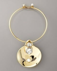 Lanvin Gold Golden Mobile Necklace