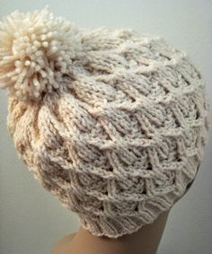 We Like Knitting: Wickerwork Hat - Free Pattern