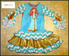 Merida Brave Upcycle Dress by Little 4 Awhile www.facebook.com/groups/little4awhile