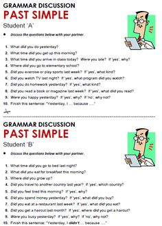 Quality ESL grammar worksheets, quizzes and games - from A to Z - for teachers & learners PAST SIMPLE 3 English Teaching Materials, Teaching English Grammar, English Grammar Worksheets, English Vocabulary Words, Learn English Words, English Phrases, English Study, English Lessons, Grammar Practice