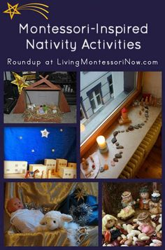 Roundup of Montessori-inspired Nativity activities for home or classroom Childrens Christmas, Preschool Christmas, Toddler Christmas, Noel Christmas, Christmas Nativity, Christmas Crafts For Kids, Christmas Countdown, Christmas Recipes, Holiday Activities For Kids