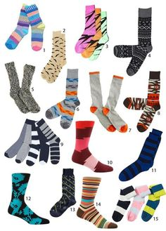 These are great colourful socks