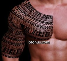 marquesan cross | Pin Halfsleeve Samoan Inspired Tattoo Design Spearhead Patterns