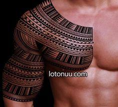 marquesan cross   Pin Halfsleeve Samoan Inspired Tattoo Design Spearhead Patterns